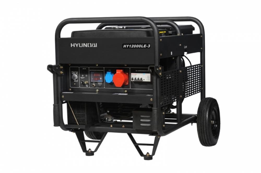 бензиновый генератор hyundai hy12000 le-3